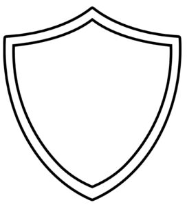 10 Shield Design Template Images – Blank Superhero Shield regarding Blank Shield Template Printable
