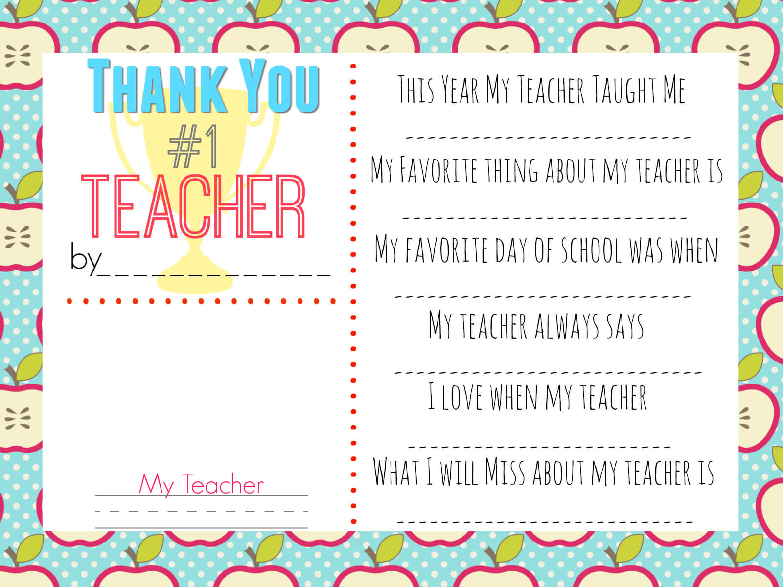 10 Teacher Gift Ideas W/ Free Printable Gift Tags – Hip2Save In Thank You Card For Teacher Template