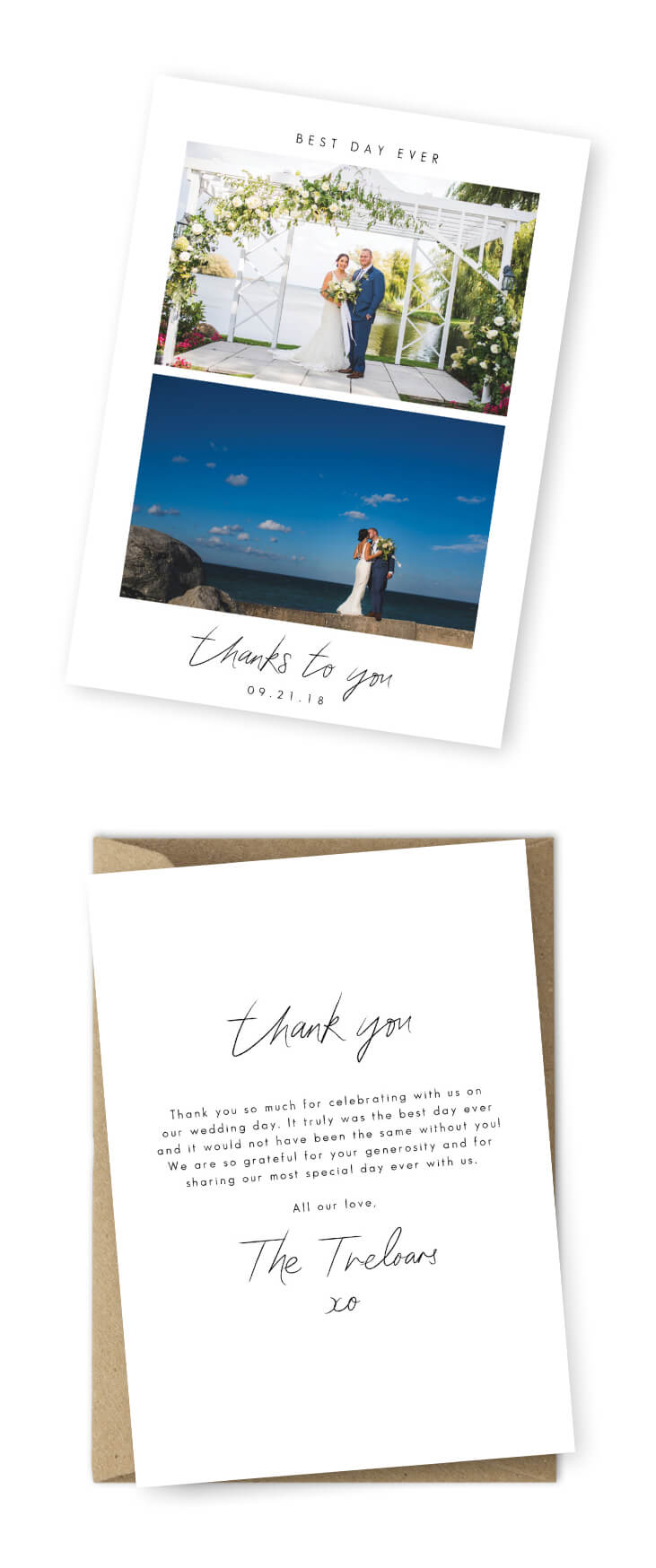 10 Wording Examples For Your Wedding Thank You Cards Pertaining To Template For Wedding Thank You Cards