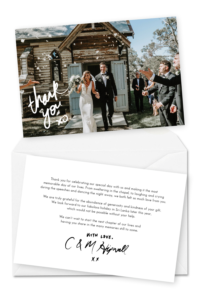 10 Wording Examples For Your Wedding Thank You Cards with regard to Template For Wedding Thank You Cards