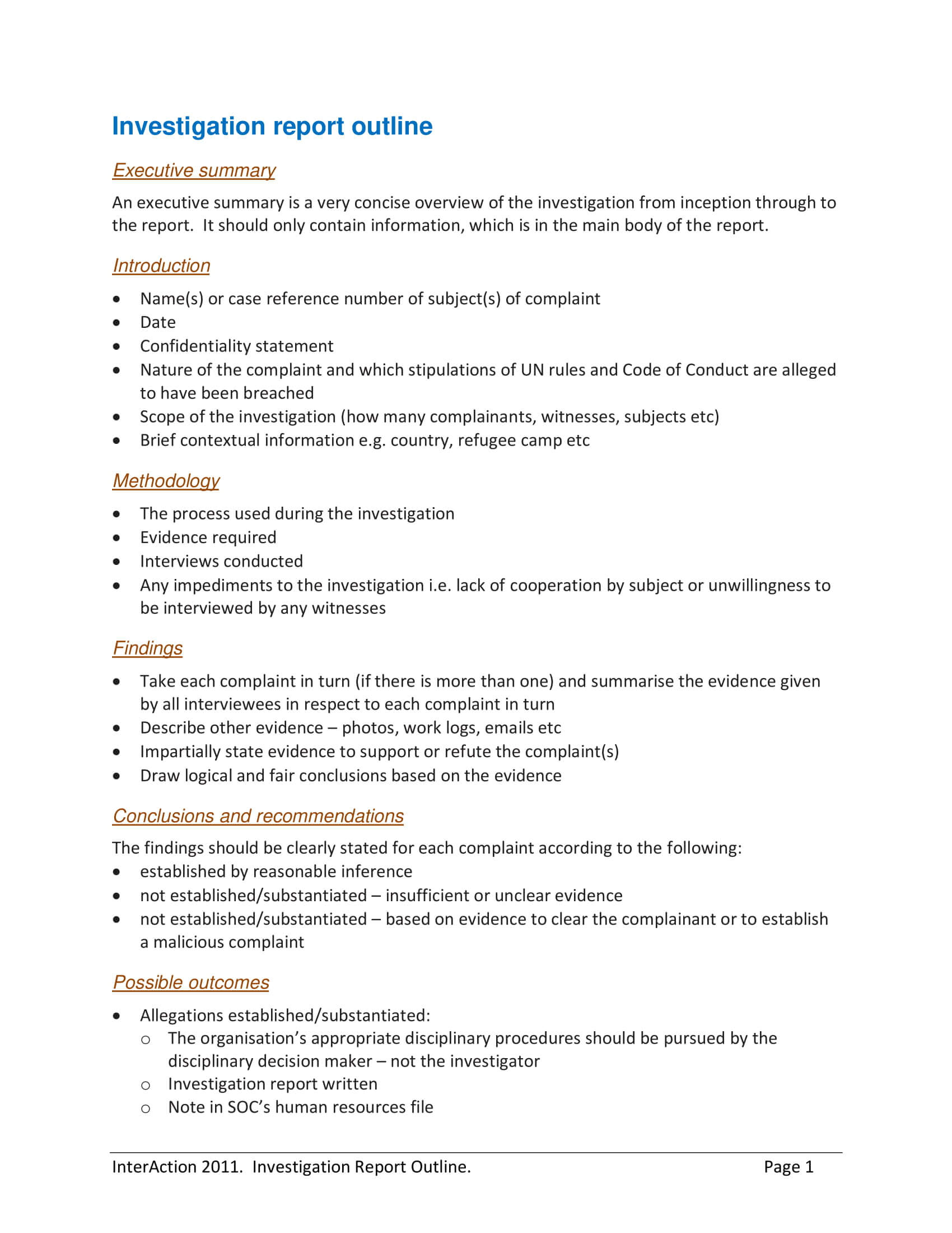 10+ Workplace Investigation Report Examples - Pdf   Examples For Workplace Investigation Report Template