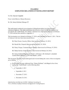10+ Workplace Investigation Report Examples – Pdf | Examples Within Sexual Harassment Investigation Report Template