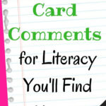 105 Report Card Comments For Literacy You'll Find Helpful Within Character Report Card Template