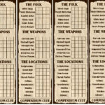 10Th Santharian Anniversary Special: The Compendium Clue Intended For Clue Card Template