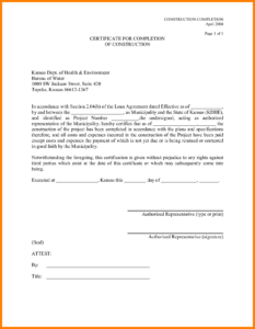 11+ Certificate Of Job Completion Templates   Weekly Template within Construction Certificate Of Completion Template