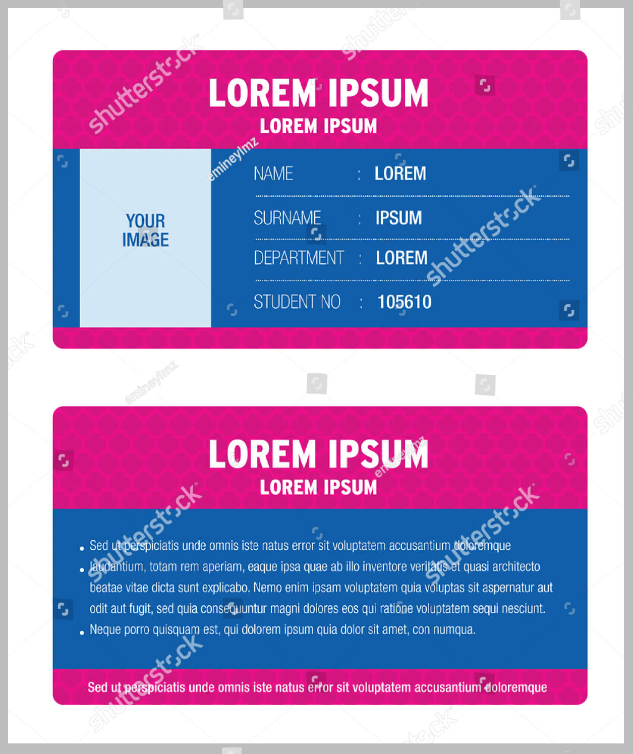 11+ Iconic Student Card Templates - Ai, Psd, Word   Free Inside Isic Card Template