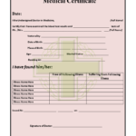 11+ Medical Certificate Templates For Leave – Pdf, Doc In Leaving Certificate Template