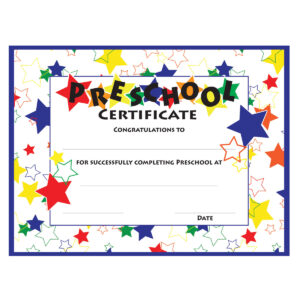 11+ Preschool Certificate Templates – Pdf | Free & Premium for Preschool Graduation Certificate Template Free