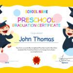 11+ Preschool Certificate Templates - Pdf | Free & Premium inside Preschool Graduation Certificate Template Free