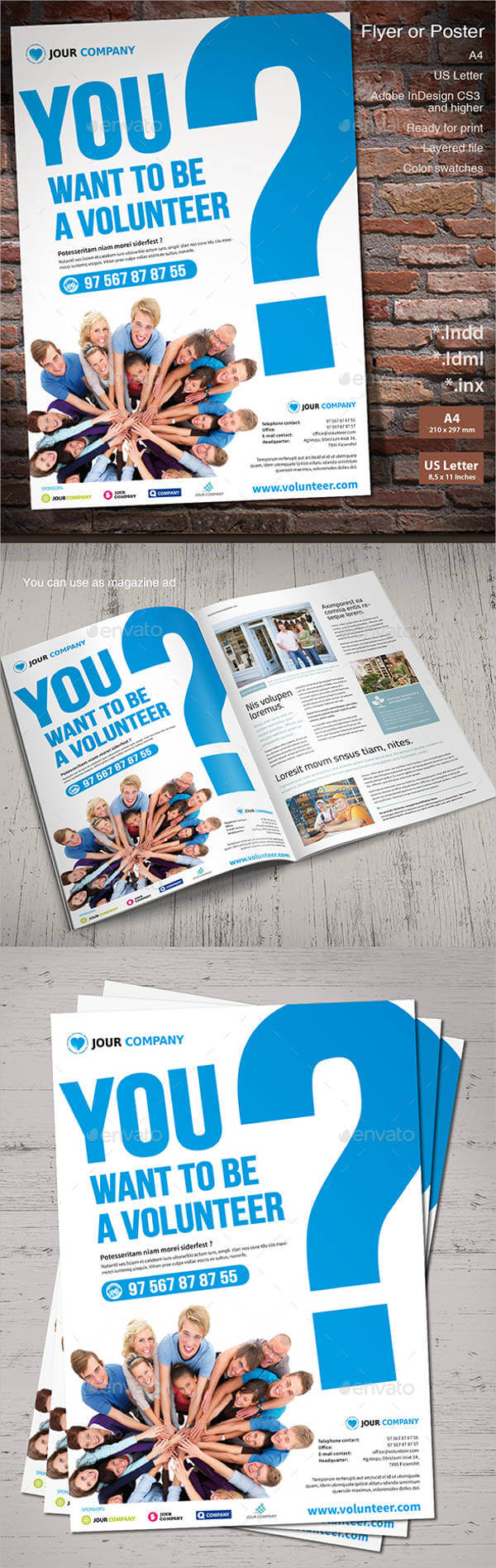 Volunteer Brochure Template