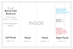 "11"" X 17"" Barrel Fold Brochure Template – U.s. Press In 4 Fold Brochure Template"