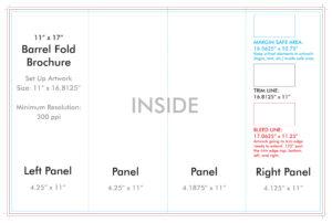 "11"" X 17"" Barrel Fold Brochure Template – U.s. Press throughout Brochure 4 Fold Template"