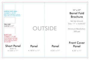 "11"" X 17"" Barrel Fold Brochure Template – U.s. Press with 11X17 Brochure Template"