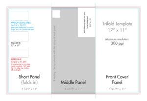 "11"" X 17"" Tri Fold Brochure Template – U.s. Press pertaining to 11X17 Brochure Template"