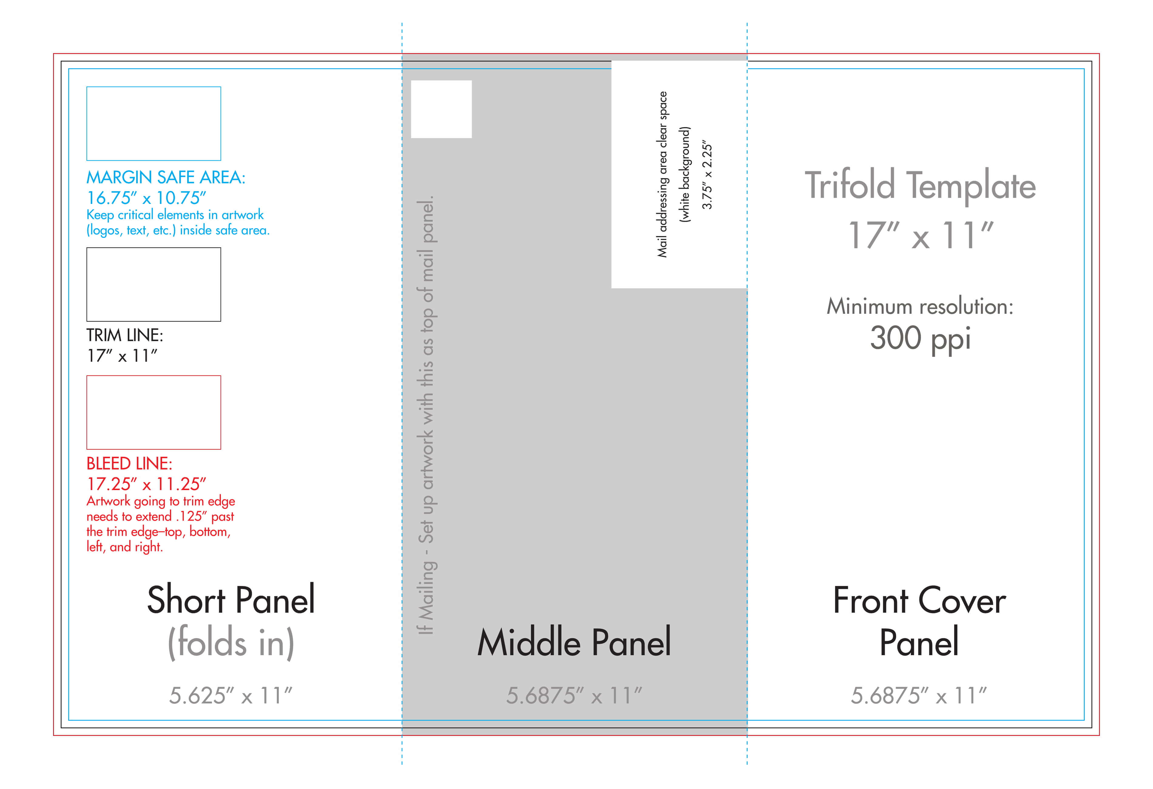"11"" X 17"" Tri Fold Brochure Template - U.s. Press Pertaining To 11X17 Brochure Template"