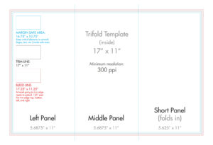 "11"" X 17"" Tri Fold Brochure Template - U.s. Press throughout Three Panel Brochure Template"