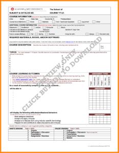 12-13 Editable Syllabus Template | Elainegalindo inside Blank Syllabus Template