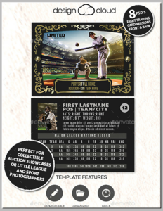 12+ Baseball Trading Card Designs & Templates – Psd, Ai within Baseball Card Template Psd