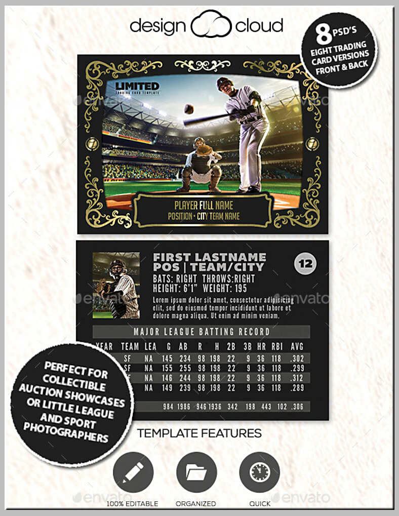 12+ Baseball Trading Card Designs & Templates - Psd, Ai Within Baseball Card Template Psd