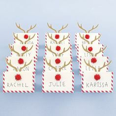 12 Best Christmas Table Place Cards Images In 2015 within Christmas Table Place Cards Template