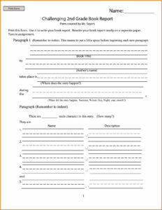 12 Book Report Templates For 2Nd Grade | Proposal Resume with 2Nd Grade Book Report Template