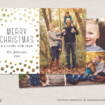 12 Christmas Card Photoshop Templates To Get You Up And With Regard To Christmas Photo Card Templates Photoshop