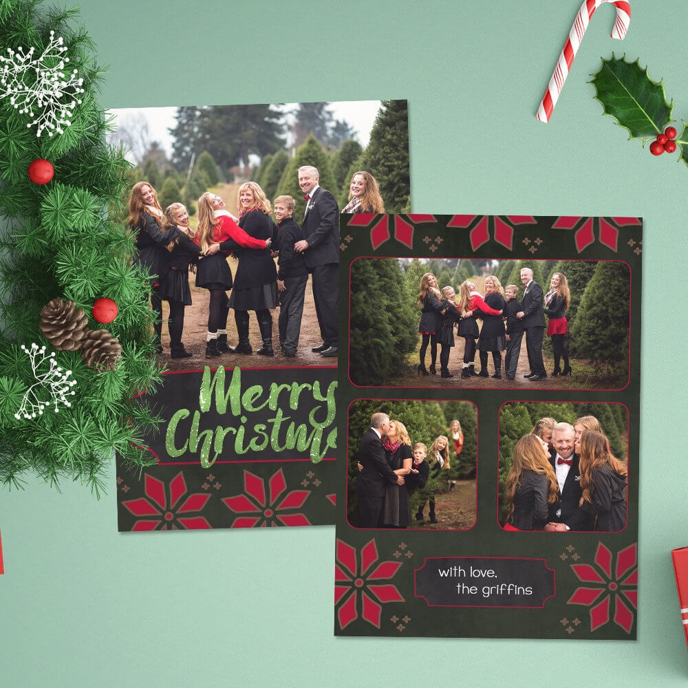 12 Christmas Card Photoshop Templates To Get You Up And Within Christmas Photo Card Templates Photoshop