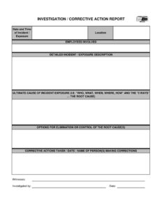 12+ Corrective Action Report Examples – Pdf | Examples in Corrective Action Report Template