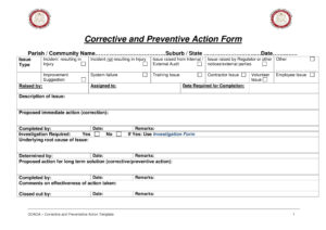 12+ Corrective Action Report Examples – Pdf | Examples in Fracas Report Template