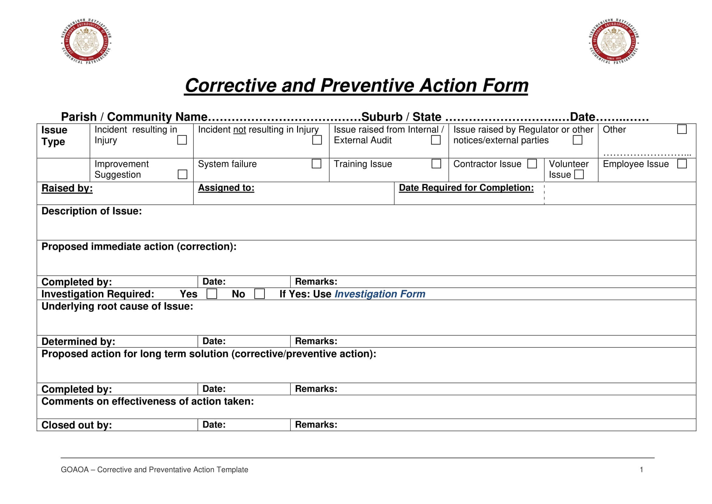 12+ Corrective Action Report Examples - Pdf | Examples In Fracas Report Template