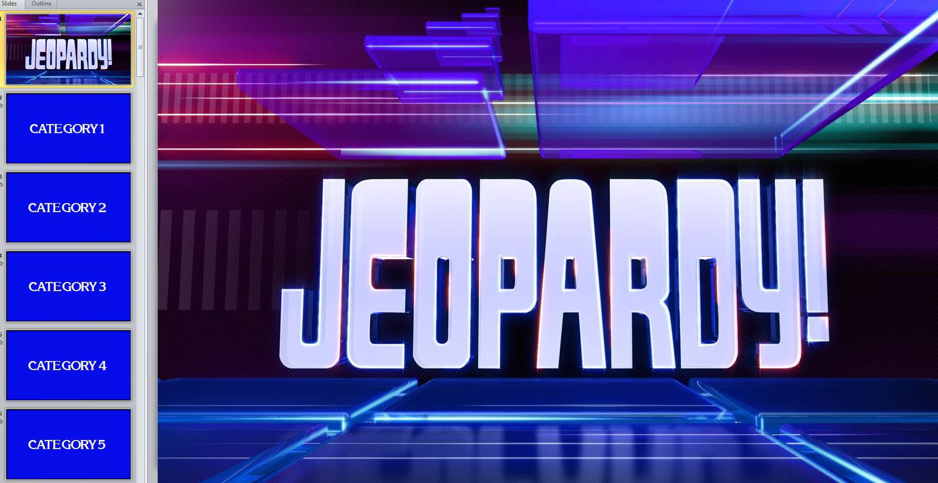 12 Free Jeopardy Templates For The Classroom Pertaining To Jeopardy Powerpoint Template With Score