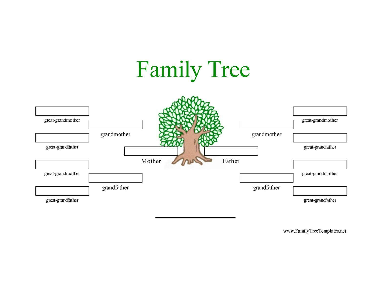 12 Generation Family Tree Sample | Generations Family Tree With Regard To Blank Family Tree Template 3 Generations