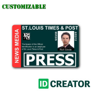 12 Images Of Media Center Passes Template | Vanscapital regarding Media Id Card Templates
