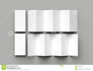 12 Page Leaflet, 6 Panel Accordion Fold – Z Fold Vertical for 6 Panel Brochure Template