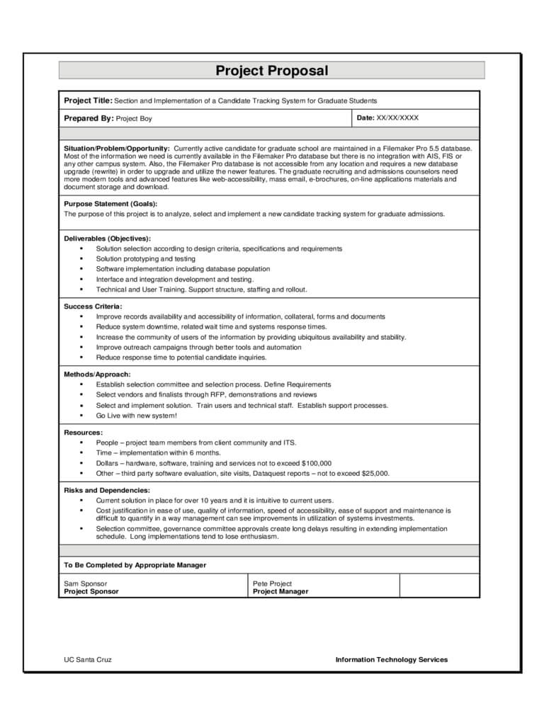 12+ Software Project Proposal Examples - Pdf, Word | Examples For Software Project Proposal Template Word