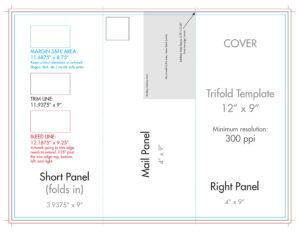 "12"" X 9"" Rack Brochure Template (Tri Fold) – U.s. Press throughout 4 Panel Brochure Template"