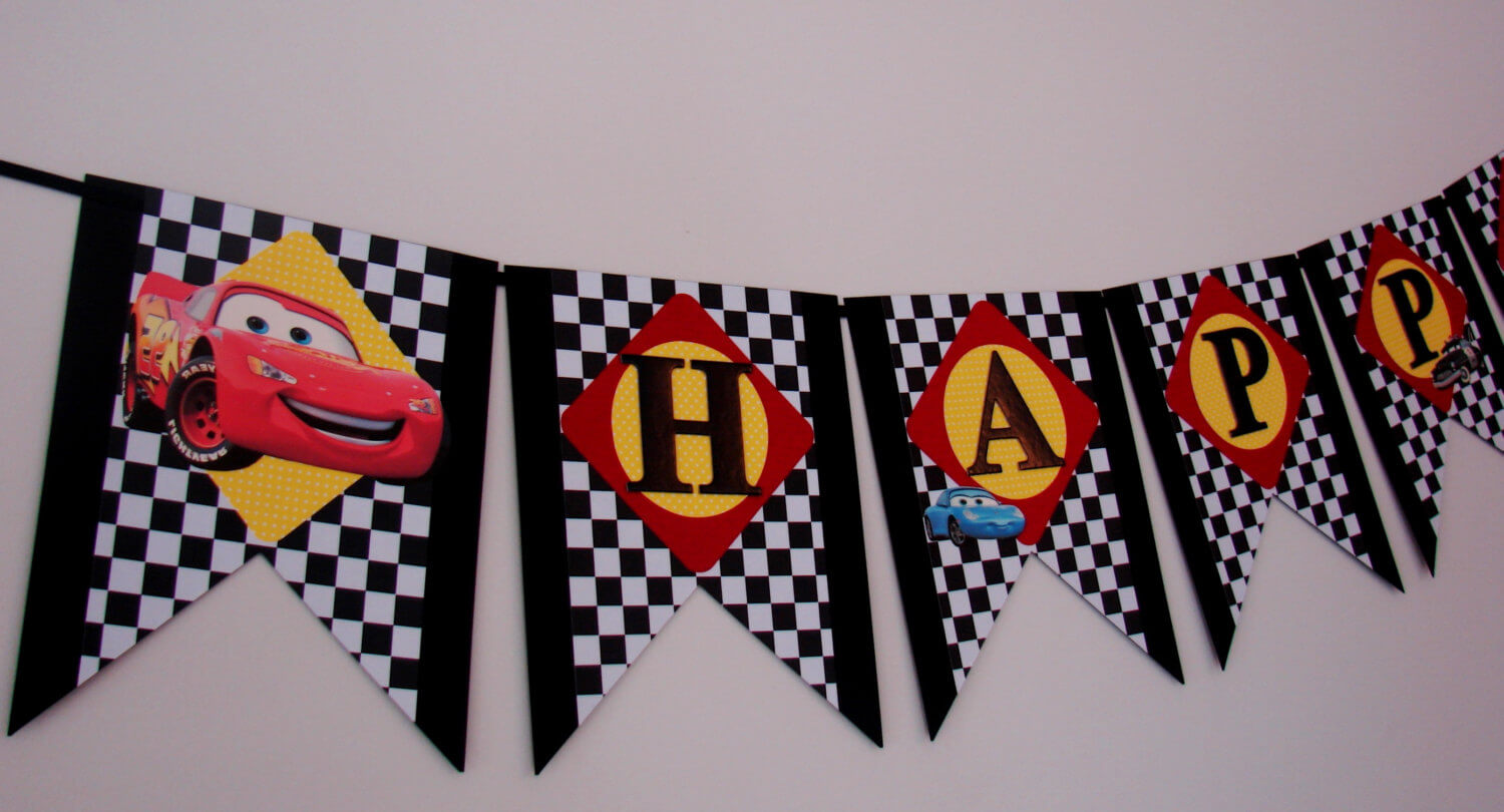 13 Best Photos Of Free Printable Disney Cars Happy Birthday Throughout Cars Birthday Banner Template