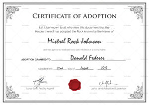 14+ Adoption Certificate Templates | Proto Politics regarding Pet Adoption Certificate Template