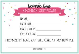 14+ Adoption Certificate Templates | Proto Politics within Toy Adoption Certificate Template