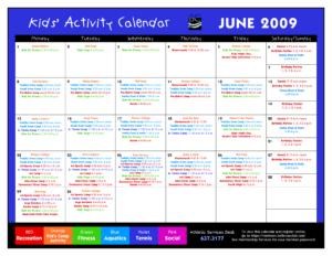 14 Blank Activity Calendar Template Images – Printable Blank throughout Blank Activity Calendar Template