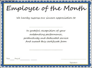 14+ Employee Of The Month Certificate | This Is Charlietrotter pertaining to Employee Of The Month Certificate Templates