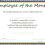 14+ Employee Of The Month Certificate   This Is Charlietrotter Throughout Employee Of The Month Certificate Template With Picture