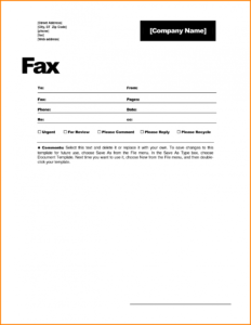 14 How To Make Fax Cover Sheet Proposal Template A In Word regarding Fax Template Word 2010