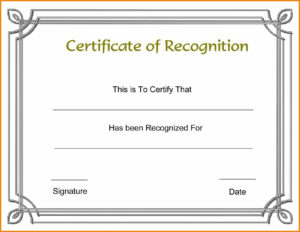 15+ Certificate Of Award Template Word Free | Cover Letter inside Certificate Of Achievement Template Word