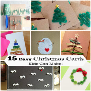 15 Diy Christmas Cards Kids Can Make! | Letters From Santa Blog With Diy Christmas Card Templates