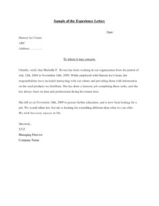 15+ Experience Letter Templates In Pdf   Free & Premium inside Template Of Experience Certificate