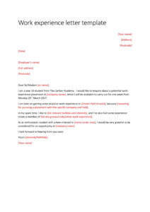 15+ Experience Letter Templates In Pdf | Free & Premium throughout Practical Completion Certificate Template Uk