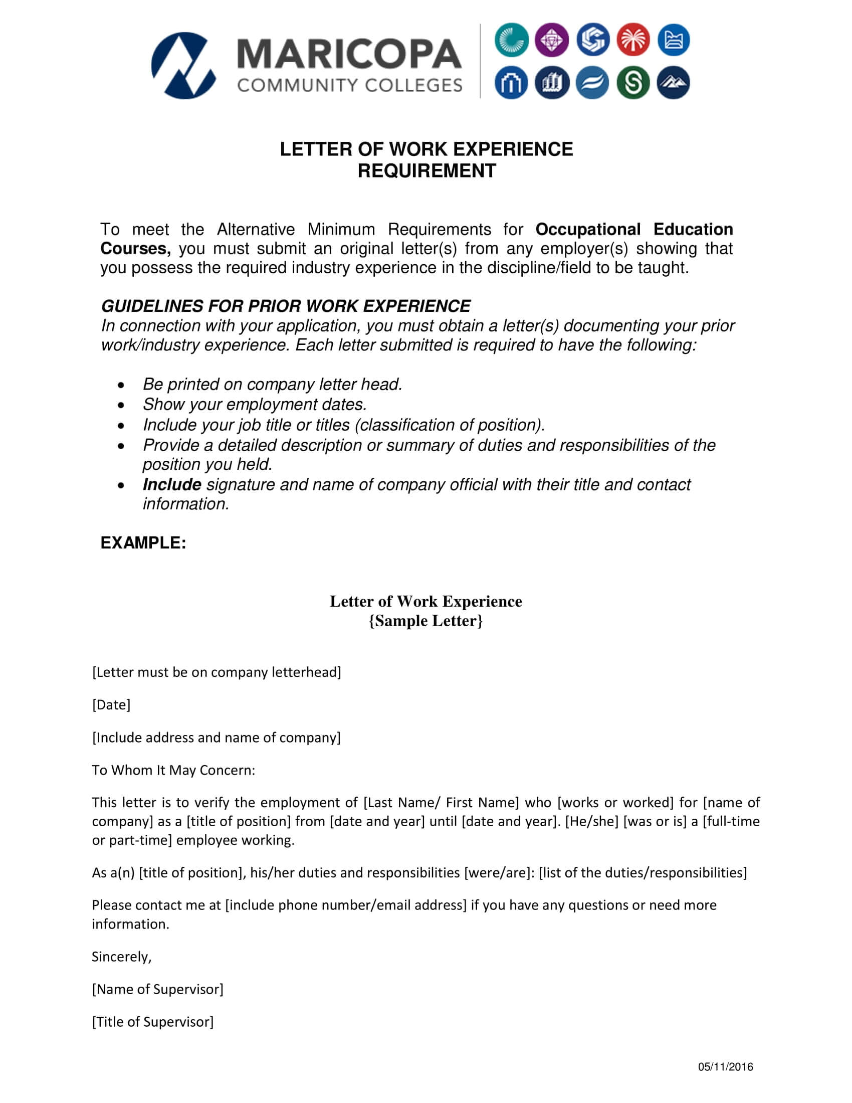 15+ Experience Letter Templates In Pdf   Free & Premium With Template Of Experience Certificate