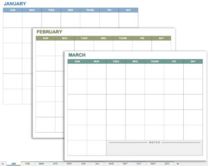 15 Free Monthly Calendar Templates | Smartsheet In Blank One Month Calendar Template