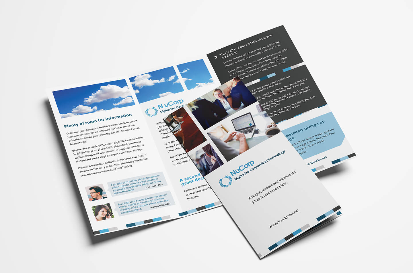 15 Free Tri Fold Brochure Templates In Psd & Vector - Brandpacks For Tri Fold Brochure Ai Template